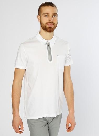 Fabrika Polo Yaka Tişört Beyaz